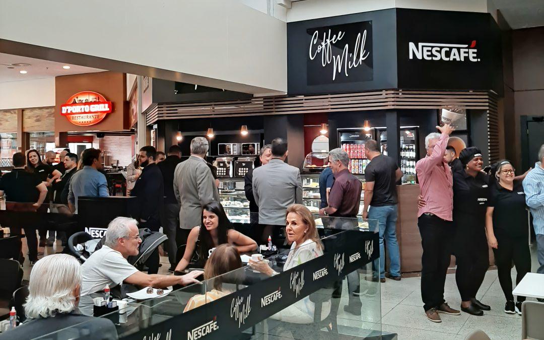 Inauguração da cafeteria Nescafé