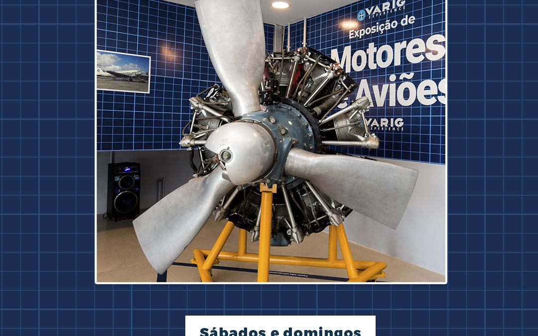Exposição de Motores de Aviões da Varig