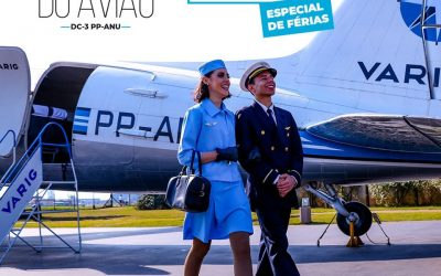 Visitas a bordo do DC-3 da Varig